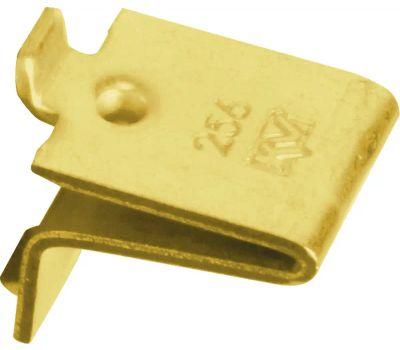 Knape & Vogt 256PBR Pilaster Shelf Support Clips Brass Finish 12 Pack & 24 Nails