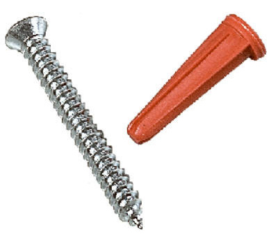 Knape & Vogt 80-88DP ANO Screws And Anchors For #80 Series Standards Anochrome