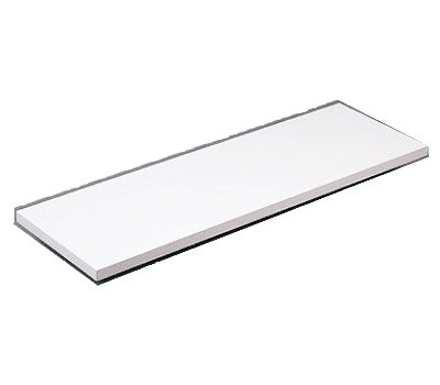 Knape & Vogt 1980 WH 10X48 All Purpose Decorative Shelf Board 5/8 By 10 By 48 Inch White