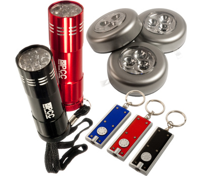 Trans USA PCC-8-1 PCC 8 Piece Led Flashlight And Tap Light Set