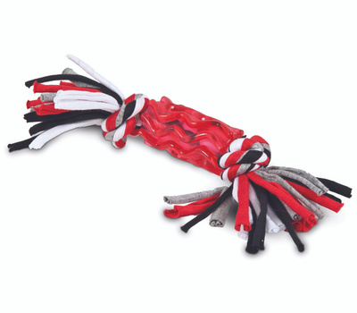 Petmate 30891 Dog Toy, M, Snarl Tug Toy, Black/Red