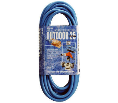 Southwire 02467-06 25 Foot 14/3 Blue Extension Cord
