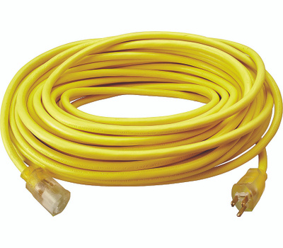 Southwire 2589SW0002 Extension Cord, 12 Awg, Yellow 100 Ft L