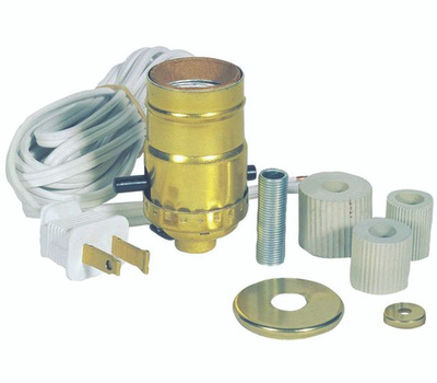 Westinghouse 7002500 Lamp Kit, Plug-in, Sockets, Metal, Brass, for: Standard Base 150 W Bulb