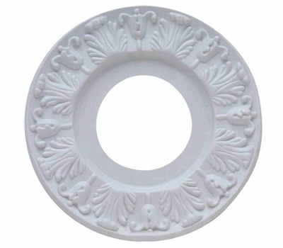 Westinghouse 7702700 Ceiling Medallion, 10 in Dia, Plastic, Traditional White, for: Ceiling Fans