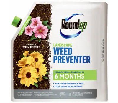 Roundup 4385106 Landscape Weed Preventer, Solid, Sprinkle Application, 5.4 Pound Bag