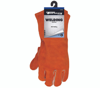 Forney 55206 Glove Weld Leather Large Brown