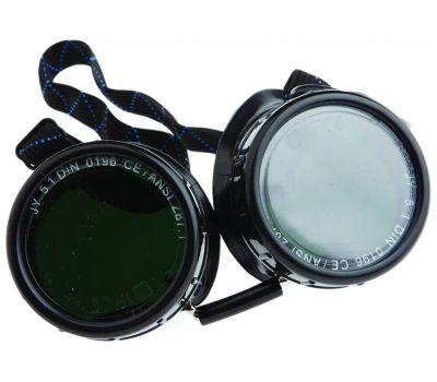 Forney 55311 Brazing Goggles, #5 Lens, Clear Lens, Black/Green Frame