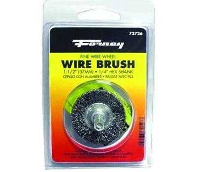 Forney 72726 Wire Wheel Brush, 0.008 in Dia Bristle, 1-1/2 in Dia