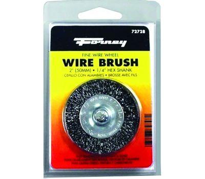 Forney 72728 Wire Wheel Brush, 2 in Dia, 0.008 in Dia Bristle