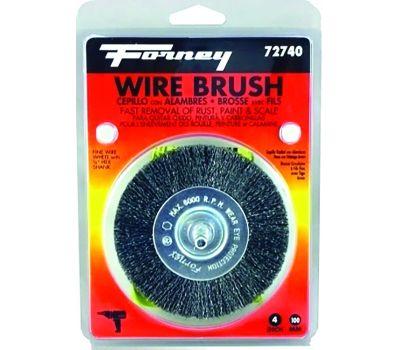 Forney 72740 Wheel Wire Crimp Fine4x.008in