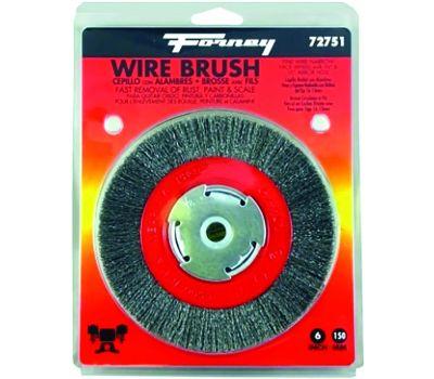 Forney 72751 Brush Wire Wheel Fine 6x.008in