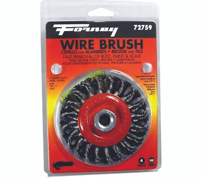 Forney 72759 Brush Wire Wheel Knot 4x.012in