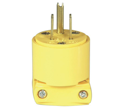 Eaton Wiring Devices BP4867 3 Wire Grounded Vinyl Plug Yellow