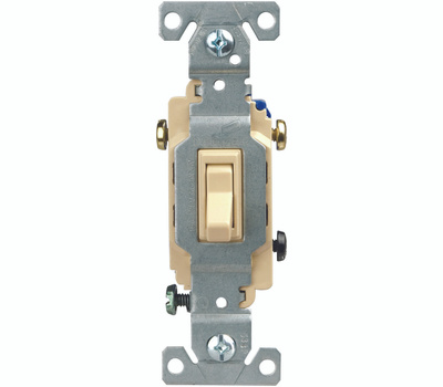 Eaton Wiring Devices C1303-7V 3 Way Grounded Toggle Switch Ivory