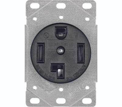 Eaton Wiring Devices 1257-SP 30 Amp 4 Wire Grounded Power Receptacle
