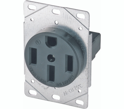 Eaton Wiring Devices 1258-SP 50 Amp 4 Wire Grounded Power Receptacle