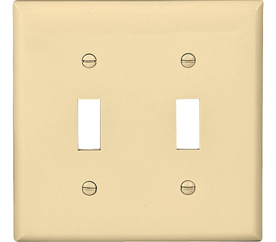 Eaton Wiring Devices 5139V 2 Gang Nylon 2 Toggle Plate Ivory