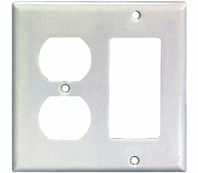 Eaton Wiring Devices 2157W-BOX 2 Gang Duplex Receptacle And Decor Switch