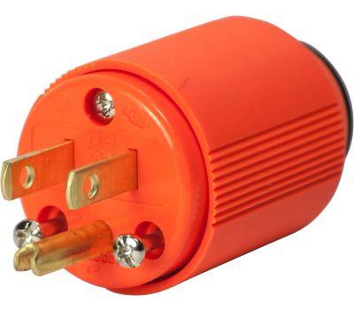 Eaton Wiring Devices BP3867-4RN High Visibility Plug Orange