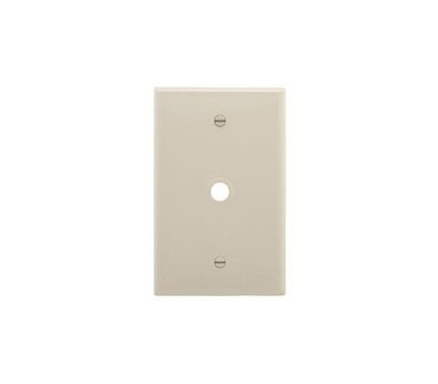 Eaton Wiring Devices PJ11LA Combination Wallplate, 4.87 in L, 3.12 in W, 1-Gang, 1-Port, Polycarbonate
