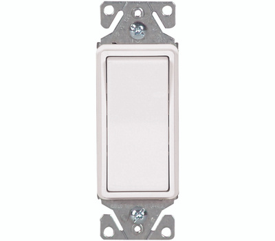 Eaton Wiring Devices 7511W-BOX Single Pole Ac Quiet Switch White