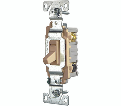 Eaton Wiring Devices CSB315STV-SP GRD Pro Toggle Switch 3 Way Ivory