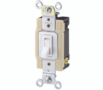 Eaton Wiring Devices 1242-7W-BOX 4 Way Quiet Toggle Switch White