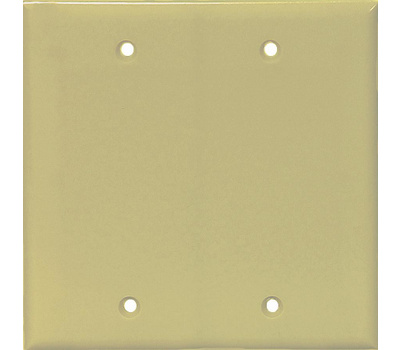 Eaton Wiring Devices PJ23V 2 Gang Blank Box Mount Plate Ivory