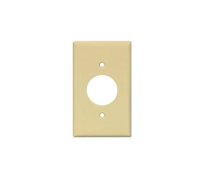 Eaton Wiring Devices PJ7LA Outlet Wallplate, 4.88 in L, 3.13 in W, Mid, 1-Gang, Polycarbonate, Light Almond