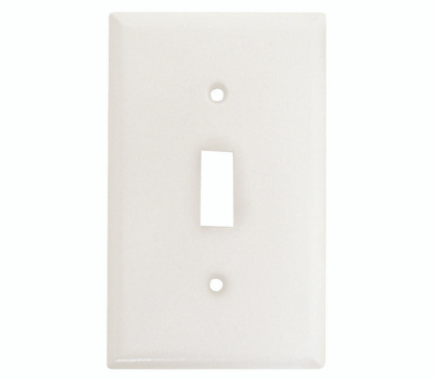 Eaton Wiring Devices 2134W-BOX 1 Gang Standard Toggle Wall Plate White