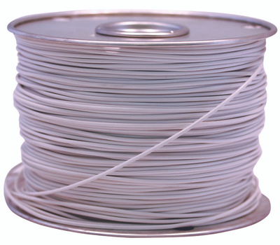 Coleman Cable 55669023 100 Foot Spool 14 Gauge Primary Wire White