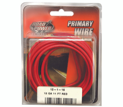 Coleman Cable 55671533/12-1-16 Wire Prim Red 11ft Cd 12ga