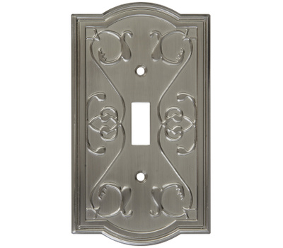 National Hardware S803-502 Stanley Victoria Single Switch Wall Plate Satin Nickel
