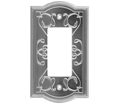 National Hardware S803-551 Stanley Victoria Single Rocker Or Gfi Wall Plate Satin Nickel