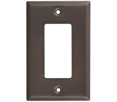 National Hardware S806-281 Stanley Basic Single Rocker Or GFI Wall Plate Oil Rubbed Bronze