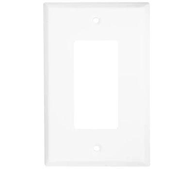 National Hardware S806-349 Stanley Basic Single Rocker Or GFI Wall Plate White