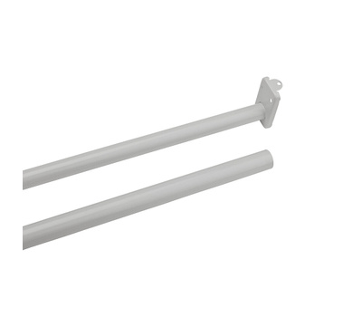 National Hardware S193-050 Stanley Adjustable Closet Rod With Ends 72 Inch To 96 Inch White Painted Steel