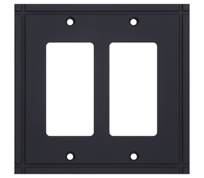 National Hardware S832-436 Stanley Ranch Double Rocker Wall Plate Oil Rubbed Bronze