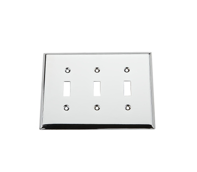 National Hardware S832-931 Stanley Basic Triple Switch Wall Plate Chrome