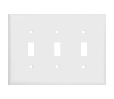National Hardware S832-949 Stanley Basic Triple Switch Wall Plate White