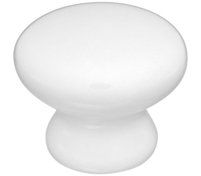 National Hardware S833-533 Stanley Porcelain Cabinet Knobs 1-5/16 Inch White 2 Pack
