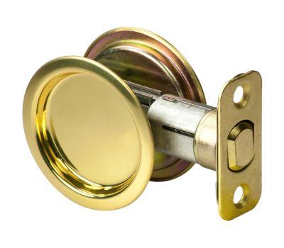 National Hardware S849-083 N350-330 Stanley Passage Round Pocket Door Pull Polished Brass