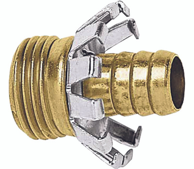 Fiskars 834004-1001 Male Clincher Coupler Brass 3/4 Inch
