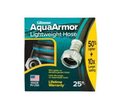 Fiskars 869251-1001 Aquaarmor Lightweight Garden Hose, 25 Ft L, Plastic