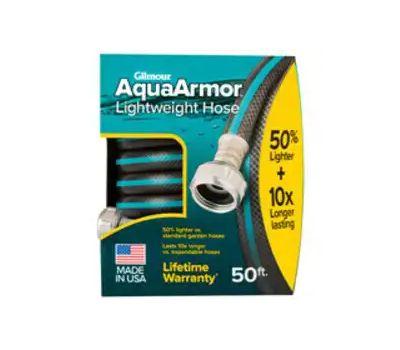 Fiskars 869501-1001 Aquaarmor Lightweight Garden Hose, 50 Ft L, Plastic
