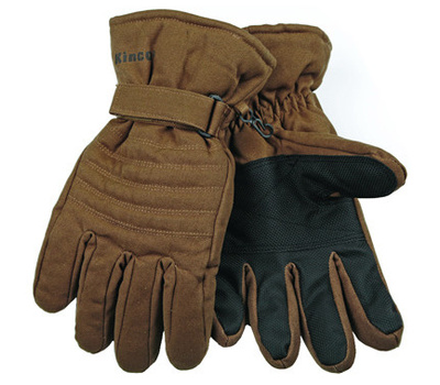 Kinco 1170-XL Brown Duck Fabric Ski Gloves Extra-Large