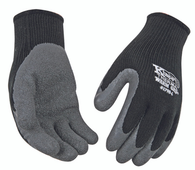 Kinco 1790-M Thermal Lined Black And Gray Latex Palm Medium