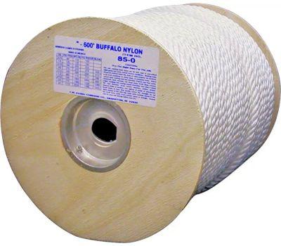 Wellington Cordage 85-065 Buffalo Nylon 3/8 By 600 Twisted Nylon Rope
