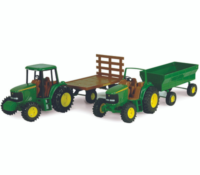 Tomy 37163 John Deere 8 Inch Tractor With Wagon
